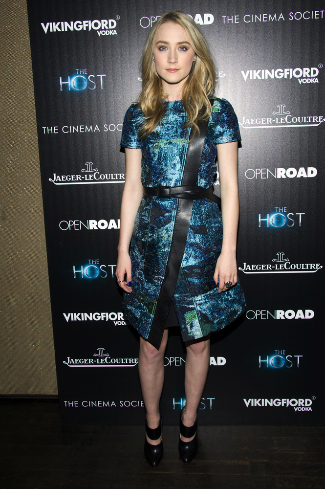 """Saoirse Ronan attends a screening of """"The Host"""" presented by The Cinema Society and Jaeger-LeCoultre on Wednesday, March 27,"""