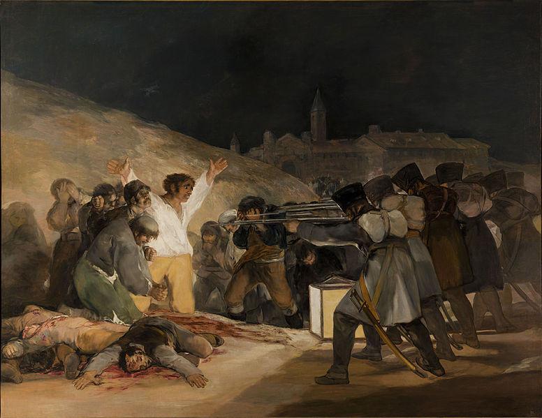 The Third of May 1808, 1814. Oil on canvas, 266 х 345 cm. Museo del Prado, Madrid