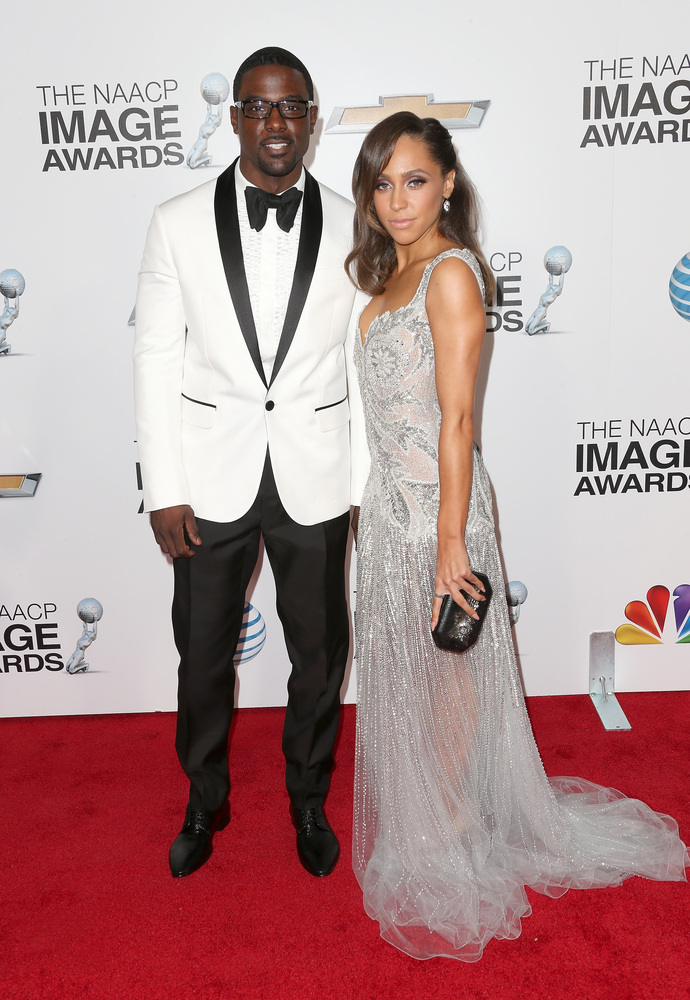 LOS ANGELES, CA - FEBRUARY 01:  Actor Lance Gross (L) and guest attend the 44th NAACP Image Awards at The Shrine Auditorium o