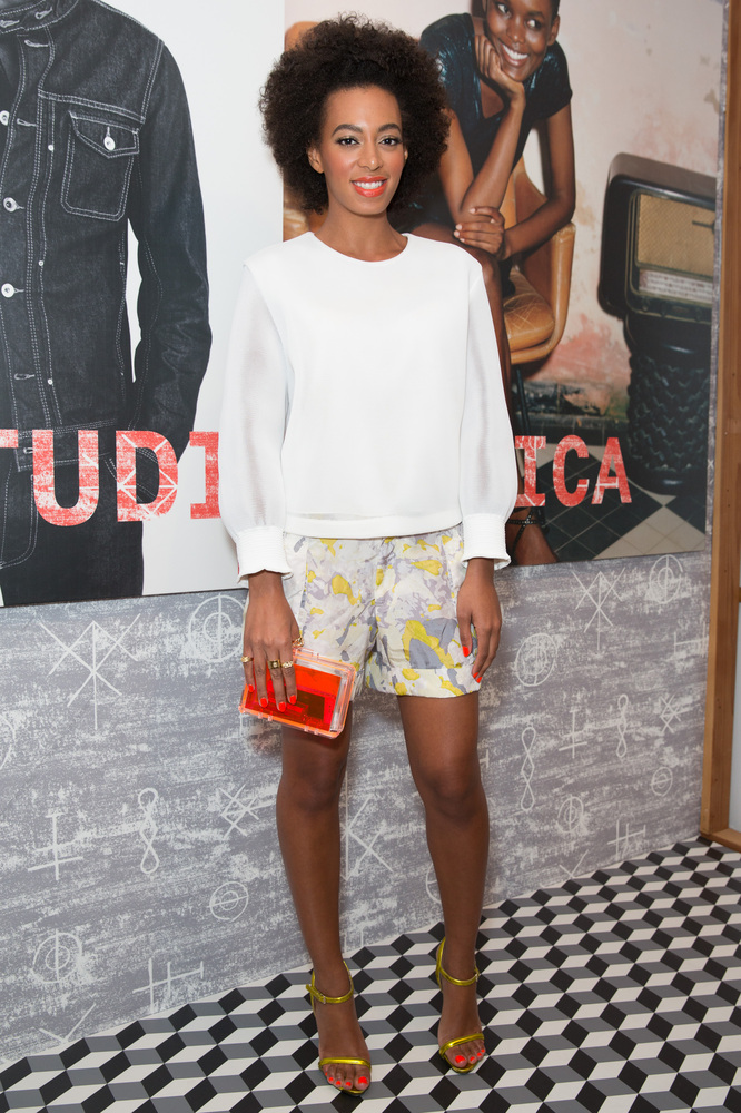 LOS ANGELES, CA - MARCH 23: Singer Solange Knowles attends the DIESEL + EDUN Studio Africa event at Ron Herman Melrose on Mar