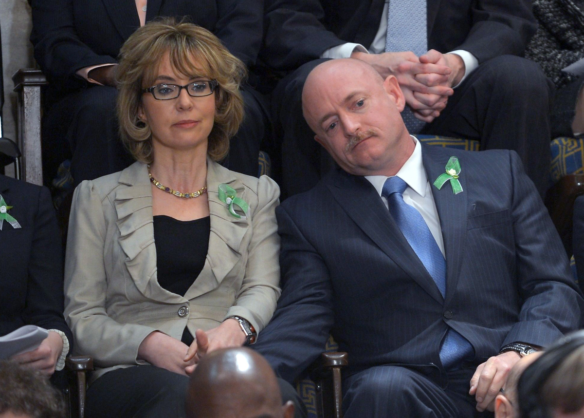 "<strong>The husband-and-wife team will speak at <a href=""http://www.huffingtonpost.com/2013/03/28/gabrielle-giffords-commence"
