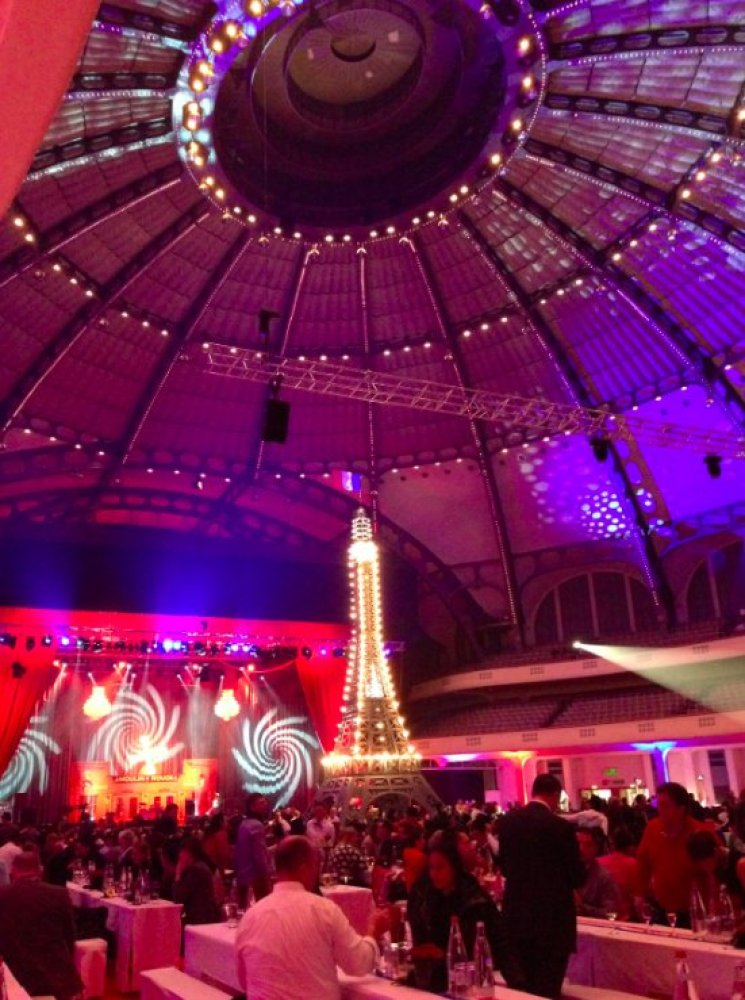 The opening night party had a French theme, complete with an Eiffel Tower model, berets and can-can dancers to highlight the