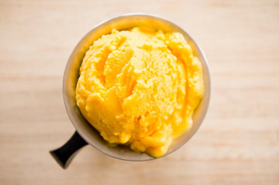 "<strong>Get the <a href=""http://food52.com/recipes/10932-mango-lassi-frozen-yogurt"" target=""_blank"">Mango Lassi Frozen Yogurt"