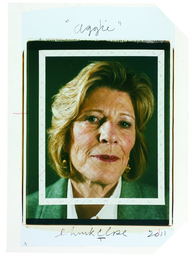 Aggie/maquette, 2011, color Polaroid with ink mounted to gatorboard, image; 24 x 20 inches, mounted; 36 x 26 inches, signed,