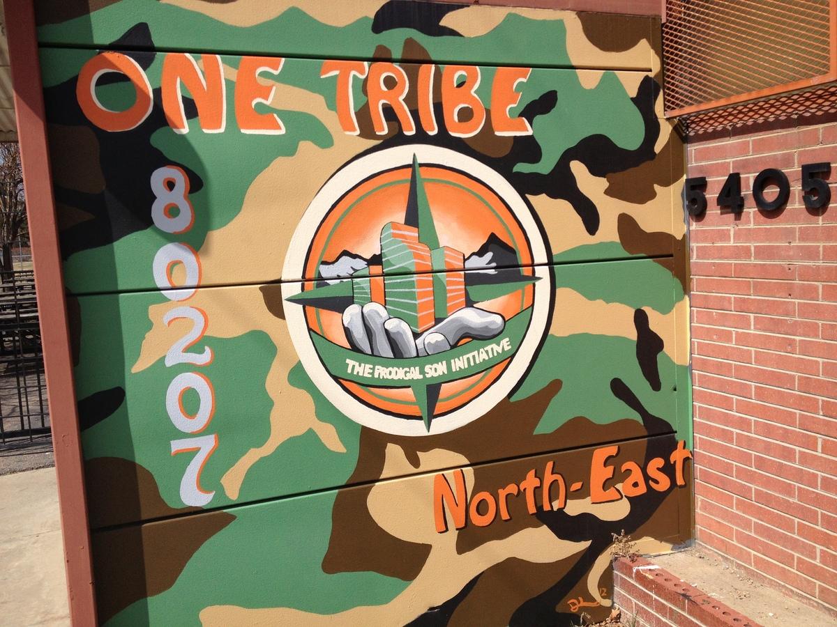 Prodigal Son Initiative headquarters mural.