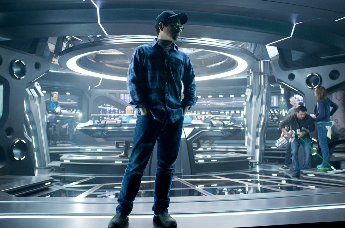 "J.J. Abrams on the set of ""Star Trek into Darkness"" from Paramount Pictures and Skydance Productions."