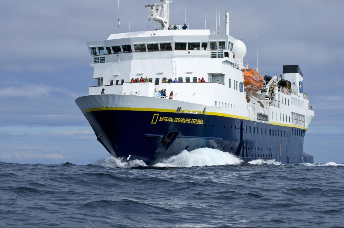 <em>National Geographic Explorer</em> is a genuine expedition ship outfitted with an ROV, kayaks, Zodiacs, and tools to explo