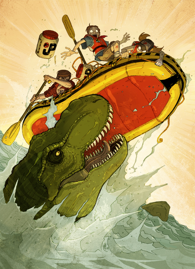 "<a href=""http://vanoxymore.deviantart.com/art/Jurassic-Park-The-River-200855156"" target=""_blank""><strong>By Noë MONIN </stron"