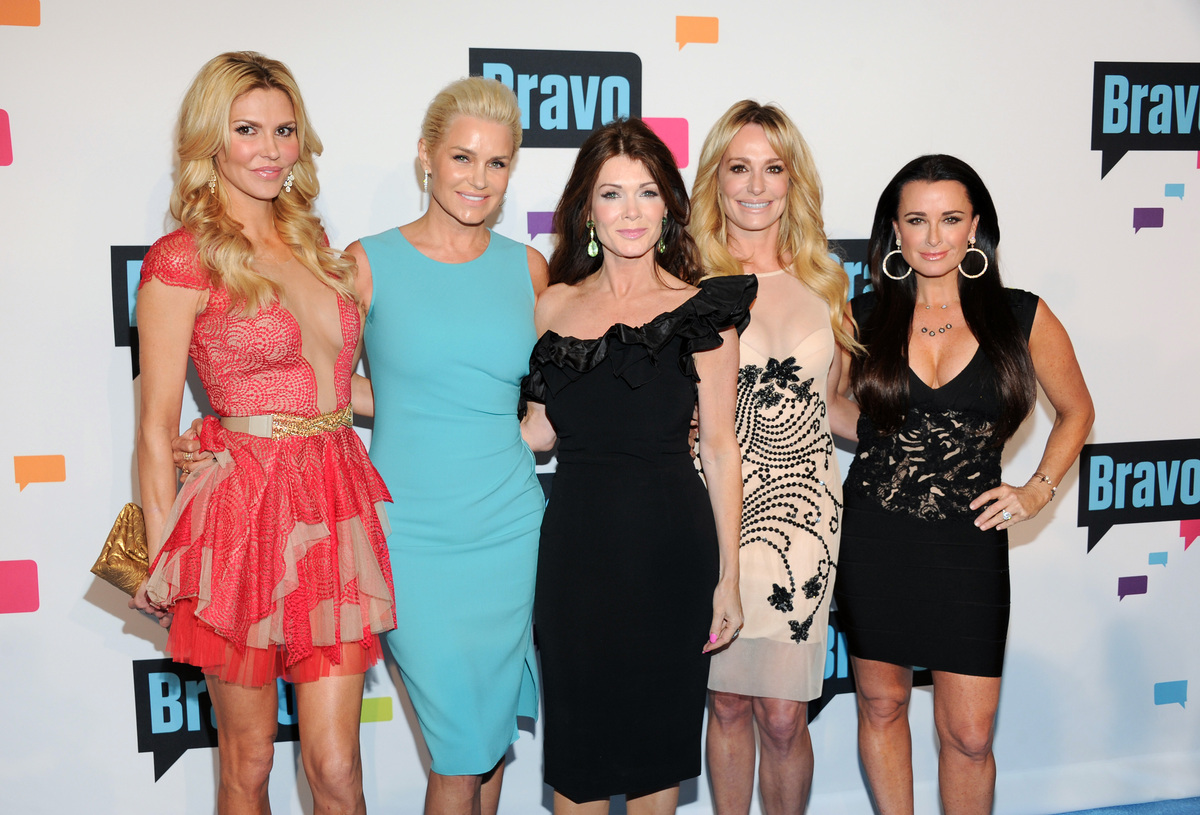 """The Real Housewives of Beverly Hills"" cast members, from left, Brandi Glanville, Yolanda Foster, Lisa Vanderpump, Taylor Arm"
