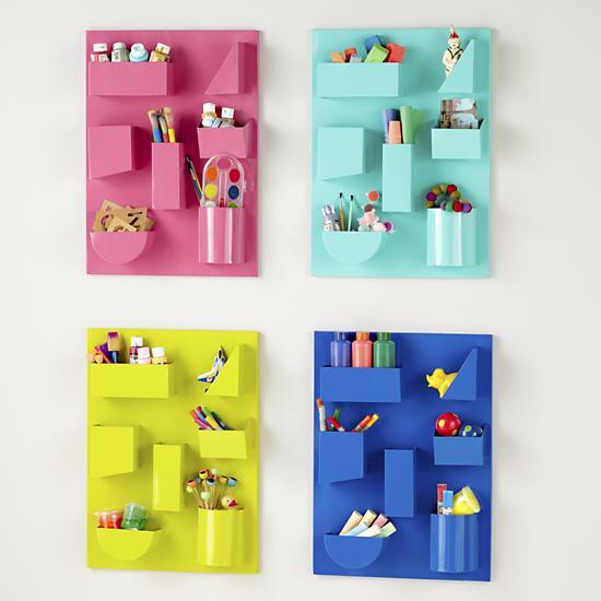 Wall Mounted Organization Helps Keep The Clutter Off Your Desktop And Makes Office Supplies Easily