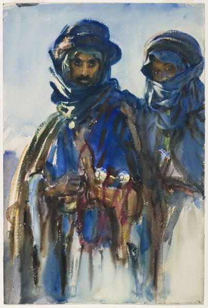 John Singer Sargent (American, 1856–1925). Bedouins, circa 1905–6. Opaque and translucent watercolor, 18 x 12 in. (45.7 x 30.