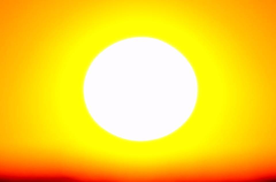 The fossil fuels we burn are heating up the planet, even as we burn through their finite supplies.  But the sun is the larges