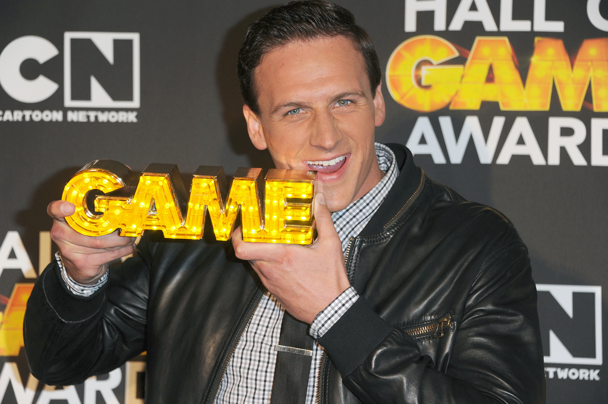 "Olympic swimmer Ryan Lochte arrives at The 3rd Annual Cartoon Network's ""Hall of Game"" Awards at The Barker Hangar on Saturda"