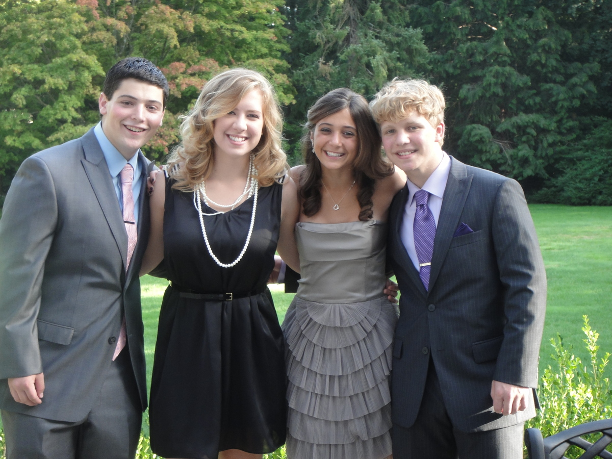 Jake, Maile, Julia and Jamie before a cousin's wedding in 2011
