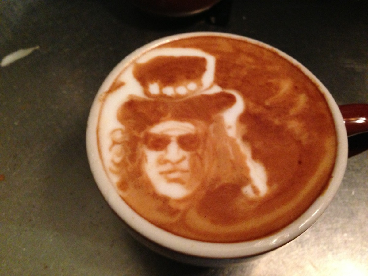 "Your daddy sips on lattes now that mommies not around. Slash by <a href=""http://instagram.com/baristart/#"" target=""_blank"">Ba"