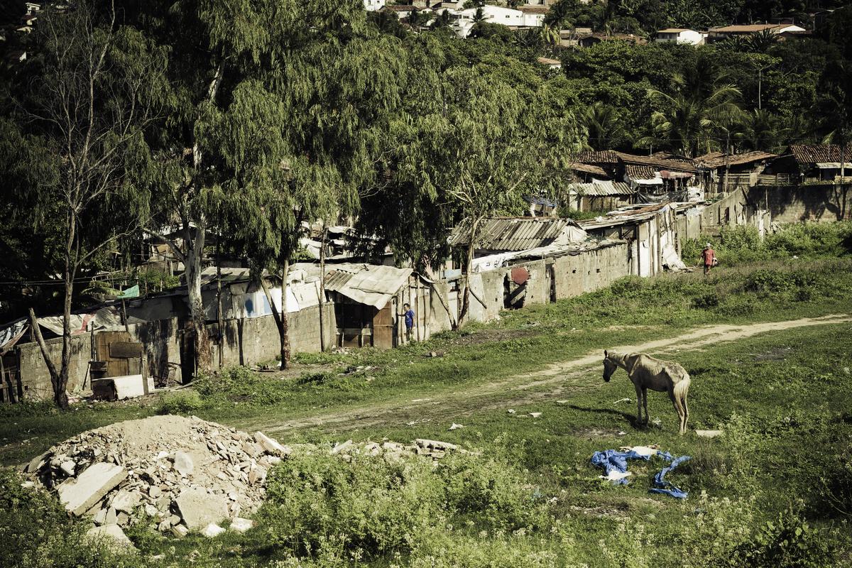Slum district in Joao Pessoa, Paraiba, Brazil. (Getty)