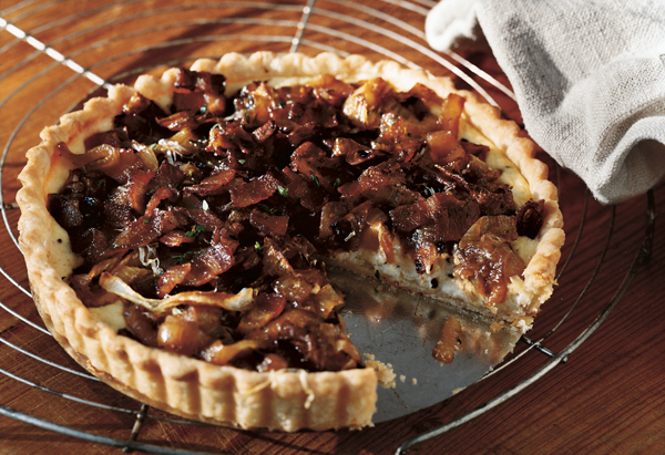 Chances are you have everything you need to make this any-time-of-day tart in your kitchen already. Keeping the dish in its r