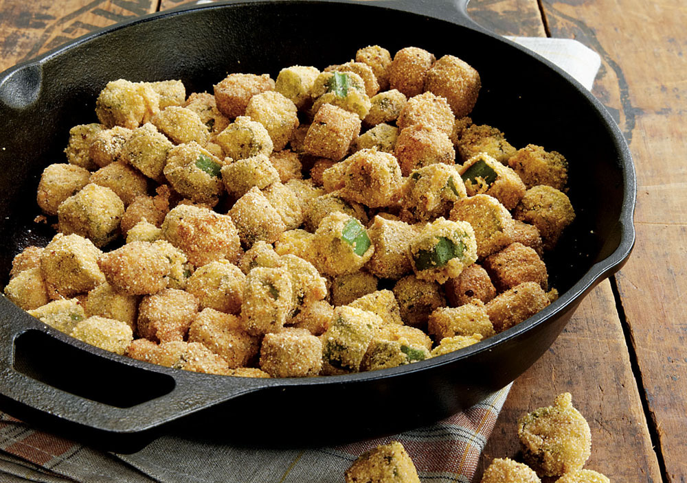"<strong>Get the <a href=""http://www.huffingtonpost.com/2012/03/27/southern-fried-okra_n_1383224.html"" target=""_blank"">Souther"
