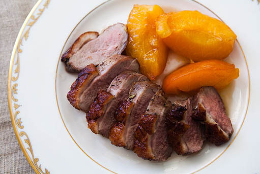 "<strong>Get the <a href=""http://www.simplyrecipes.com/recipes/rosemary_duck_with_apricots/"" target=""_blank"">Rosemary Duck wit"