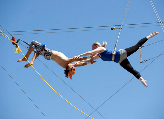If you've always dreamt of being in Cirque de Soleil, trapeze classes are your chance to unleash your inner circus star. Indo