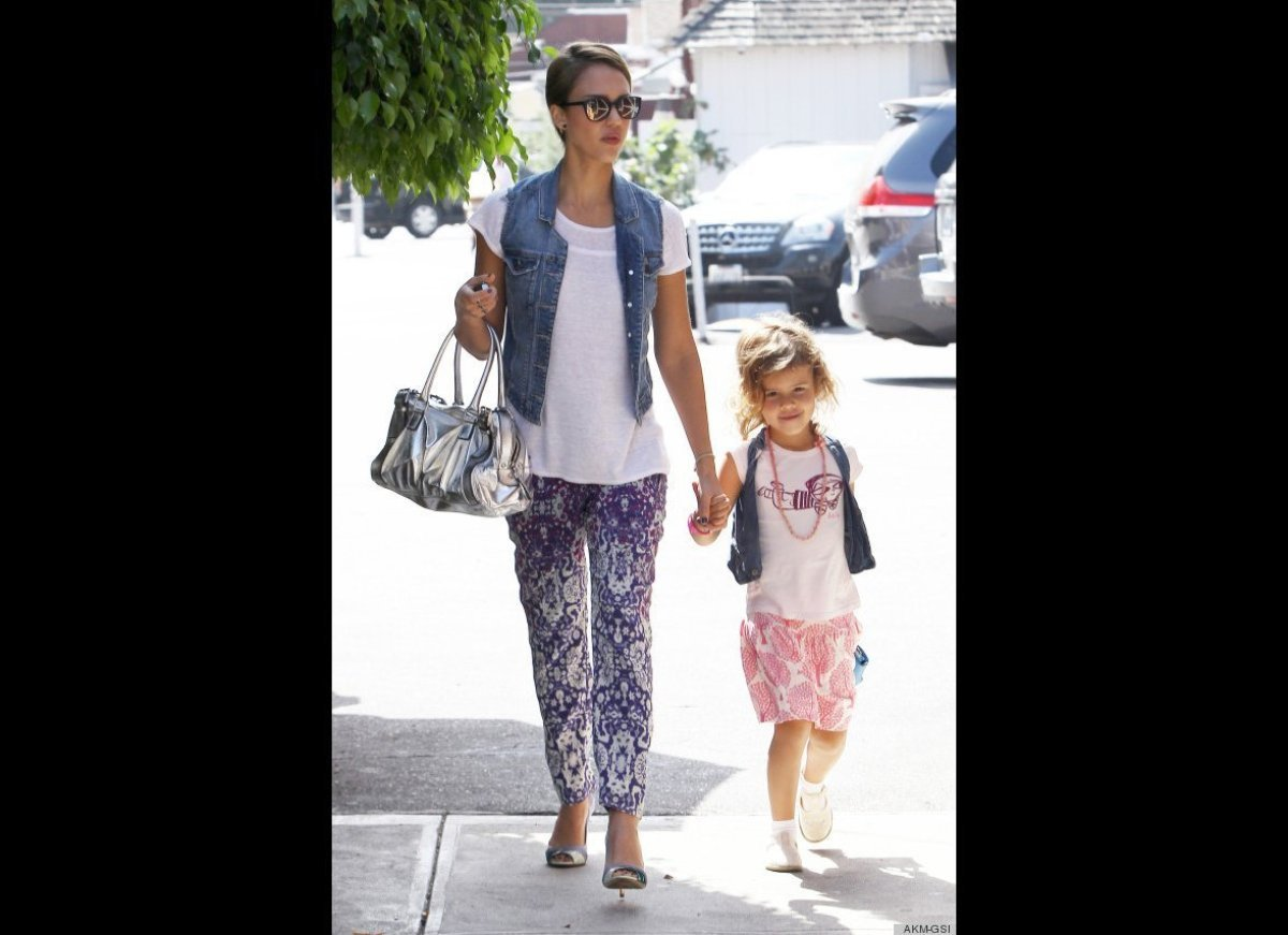Honor may be a wee one, but she's already taking style cues from her fashionable Hollywood mama.