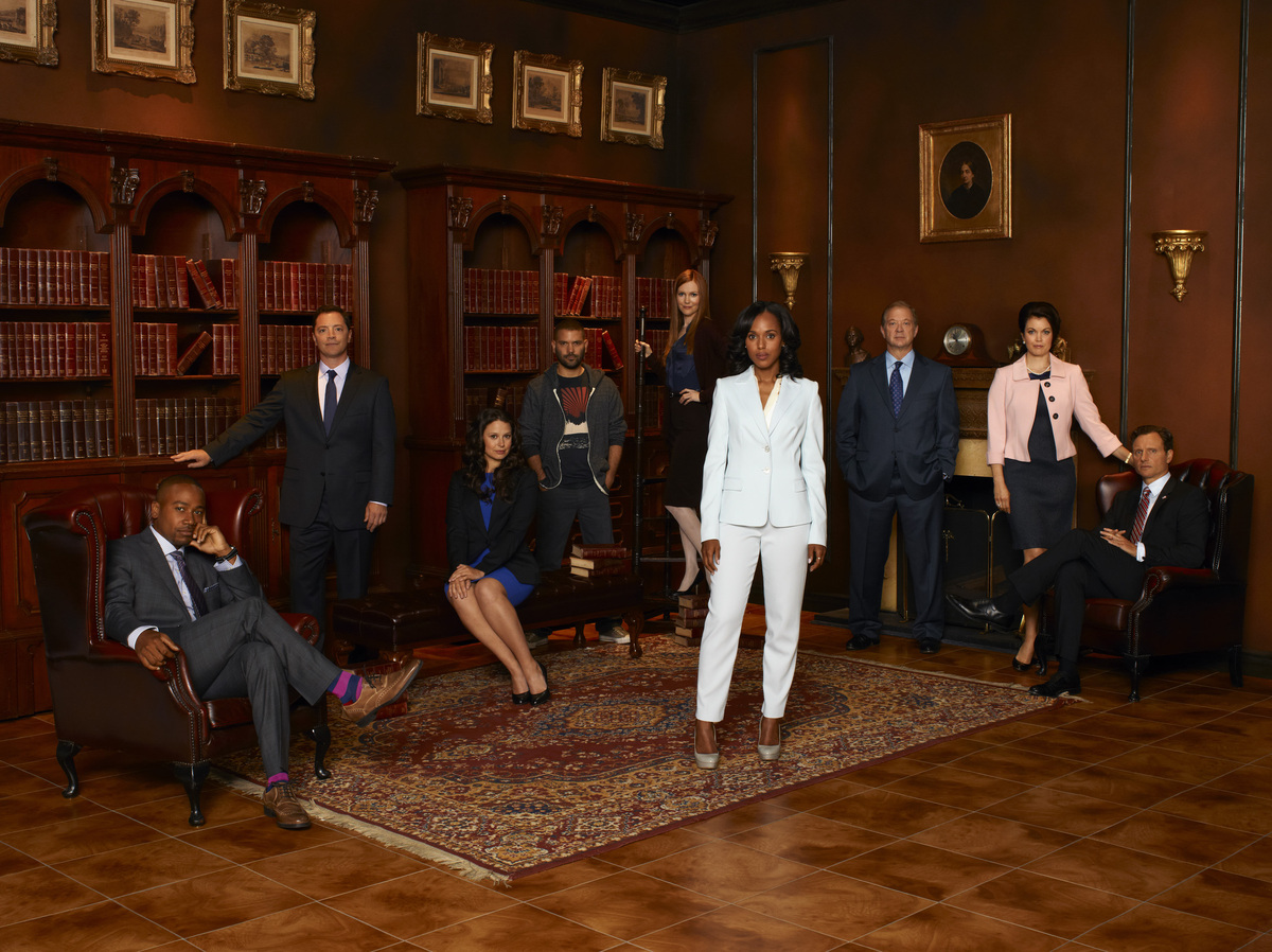 """Thank you for watching and thank you for voting,"" the ""Scandal"" cast said in unison upon receiving the award."