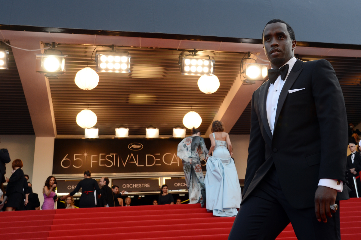 US singer Puff Daddy arrives for the screening of 'Lawless' presented in competition at the 65th Cannes film festival on May