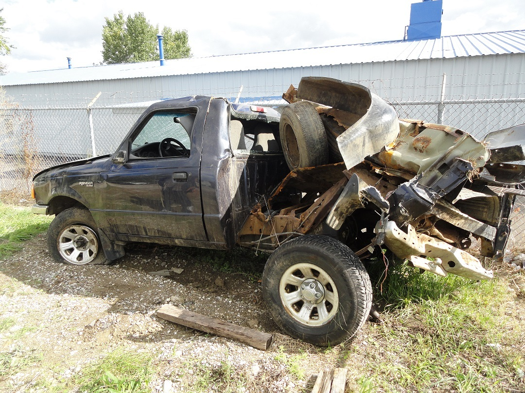 This is what Melvin Huyck's truck looked like after the accident. David Lohr later purchased the vehicle from the insurance c