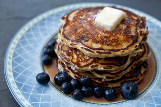 "<strong>Get the <a href=""http://www.simplyrecipes.com/recipes/blueberry_buttermilk_pancakes/"" target=""_blank"">Blueberry Butte"