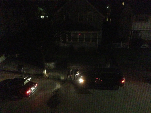 The Tsarnaev brothers take cover.