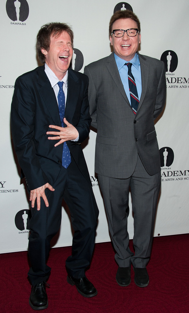 BEVERLY HILLS, CA - APRIL 23: Dana Carvey and Mike Myers attends Academy Of Motion Picture Arts And Sciences Hosts A 'Wayne's