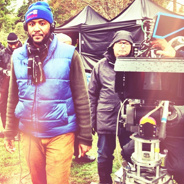 Our oh so talented writer/director @malcolmdlee. #viewfrommyside #filters