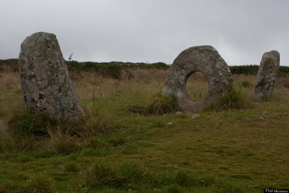 """Known locally as the Crick Stone, the name Mên-an-Tol literally means """"the hole stone"""" in the old Cornish Language.  This mys"""