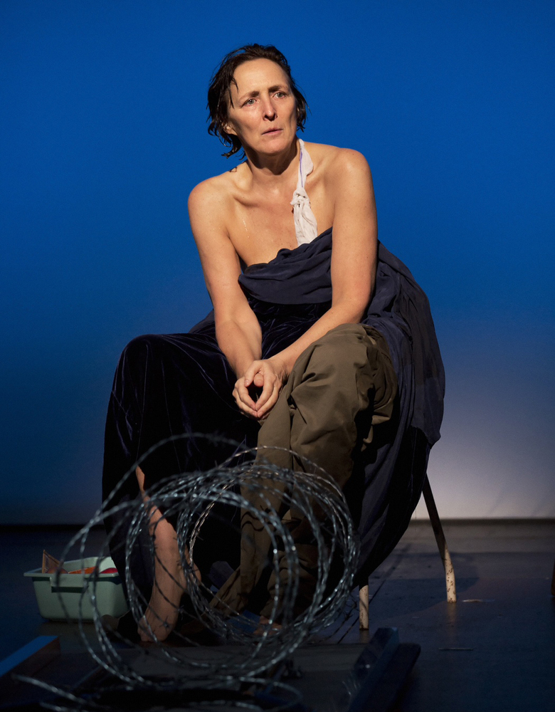 This theater image released by Philip Rinaldi Publicity shows Fiona Shaw, perhaps best known for playing Harry Potter's aunt,