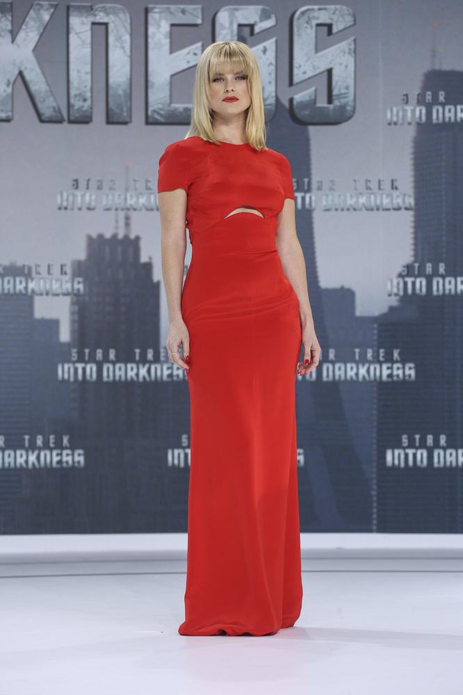 BERLIN, GERMANY - APRIL 29:  Alice Eve attends the 'Star Trek Into Darkness' Premiere at CineStar on April 29, 2013 in Berlin