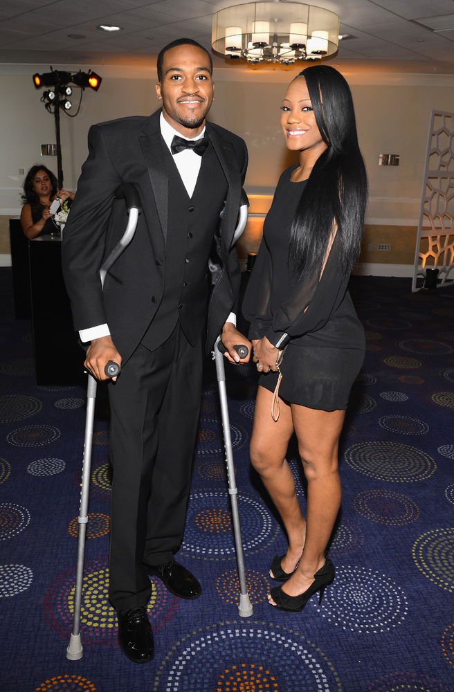 WASHINGTON, DC - APRIL 27:  Kevin Ware and Brittnay Kelly attend the TIME/CNN/PEOPLE/FORTUNE Pre-Dinner Cocktail Reception at