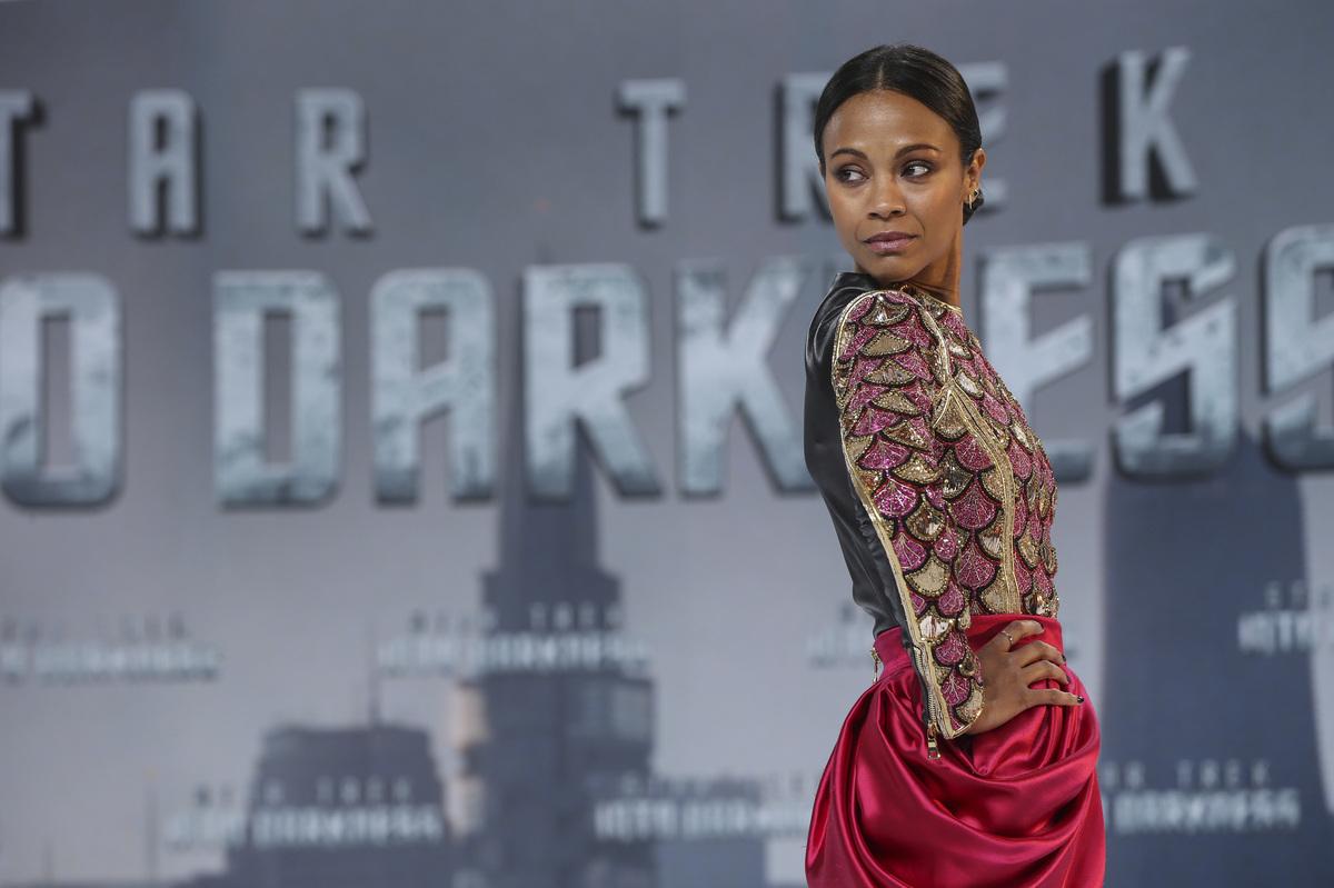 BERLIN, GERMANY - APRIL 29:  Zoe Saldana attends the 'Star Trek Into Darkness' Premiere at CineStar on April 29, 2013 in Berl