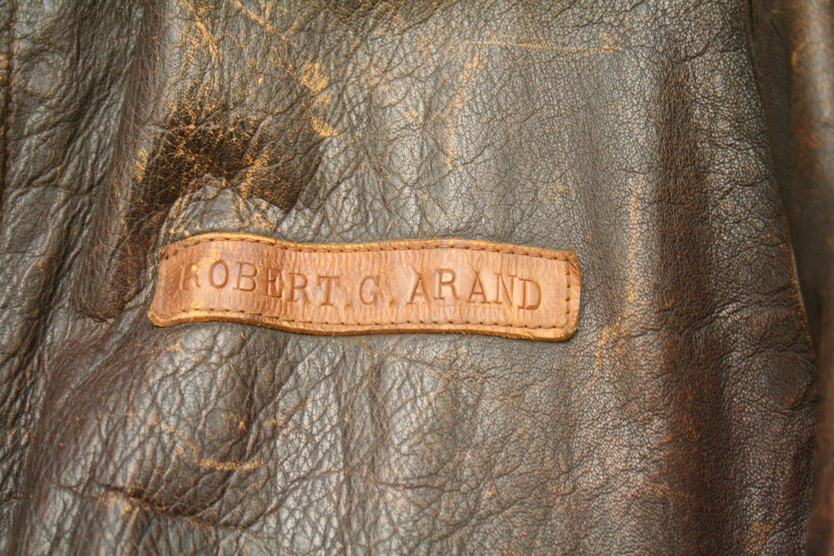 The leather bomber jacket once owned by World War II pilot Robert Arand will soon be winging its way back to Arand. Pentagon