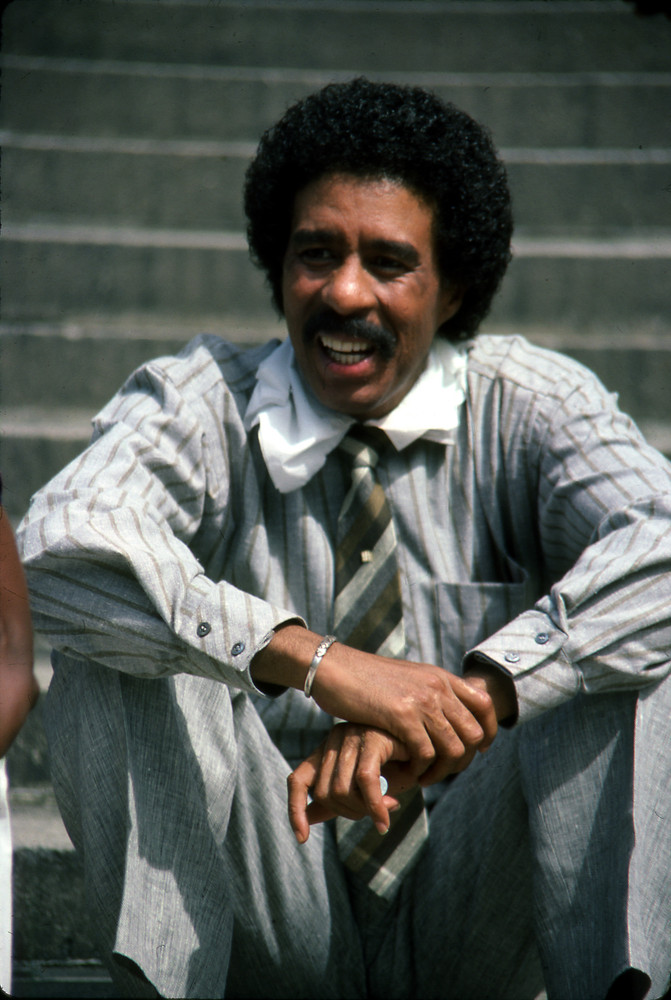 UNITED STATES - DECEMBER 12:  Richard Pryor, Debbie Allen, Lou Gossett, Quincy Jones; July 1984  (Photo by Vinnie Zuffante/Ge