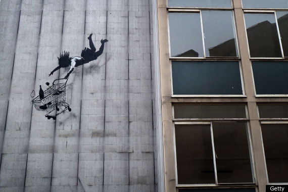 "The elusive <a href=""http://www.banksy.co.uk/"" target=""_blank"">Banksy</a> is probably the most famous street artist in the wo"