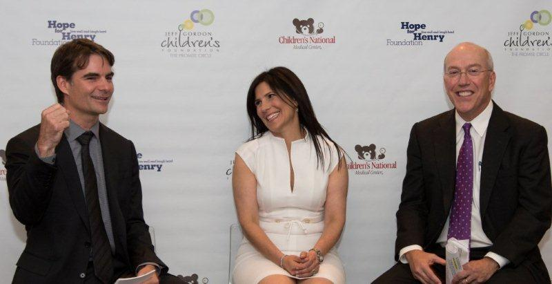 Jeff Gordon, Laurie Strongin, Executive Director, Hope for Henry, Dr. Kurt Newman, CEO of Children's National Medical Center