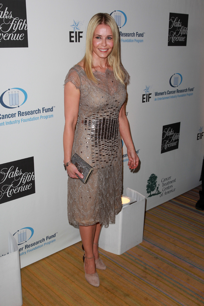 BEVERLY HILLS, CA - MAY 02:  Host Chelsea Handler wearing Carolina Herrera, attends EIF Womens Cancer Research Funds 16th Ann