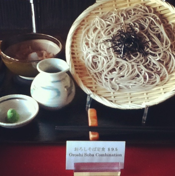 On a street of ramen parlors, this is the sole specialist in soba (handmade buckwheat noodles), served either cold or in a de