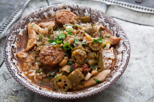"<strong>Get the <a href=""http://www.simplyrecipes.com/recipes/chicken_gumbo_with_andouille_sausage/"" target=""_blank"">Chicken"