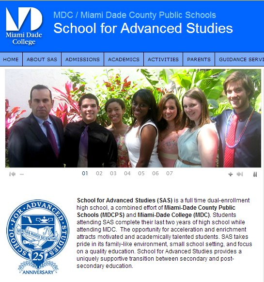 <strong>Miami, Fla.</strong> School Classification: Magnet, selective Graduation Rate (%): 100 AP/IB Tests: 3.3 College Bound