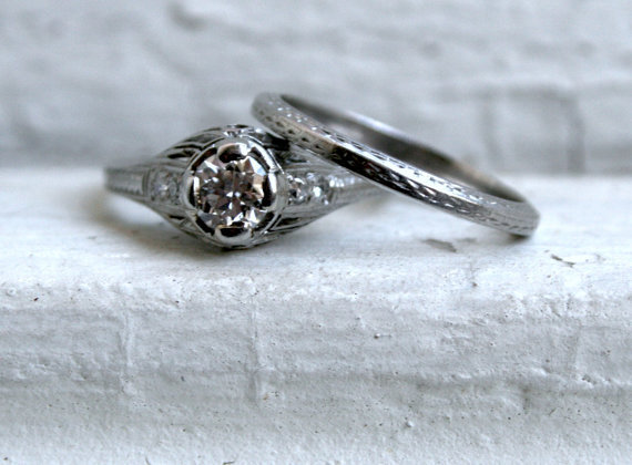 vintage engagement rings - Non Diamond Wedding Rings