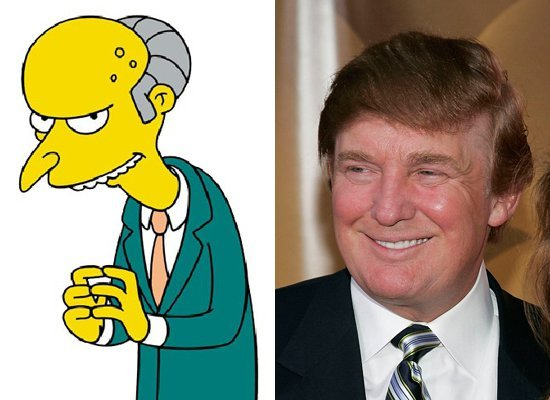 C. Montgomery Burns may not share Trump's signature comb-over, but there's not much else the two corporate overlords don't ha