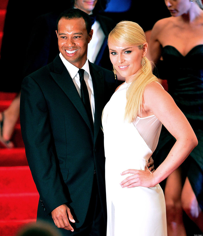 NEW YORK, NY - MAY 06: Tiger Woods and Lindsey Vonn attend the Costume Institute Gala for the 'PUNK: Chaos to Couture' exhibi