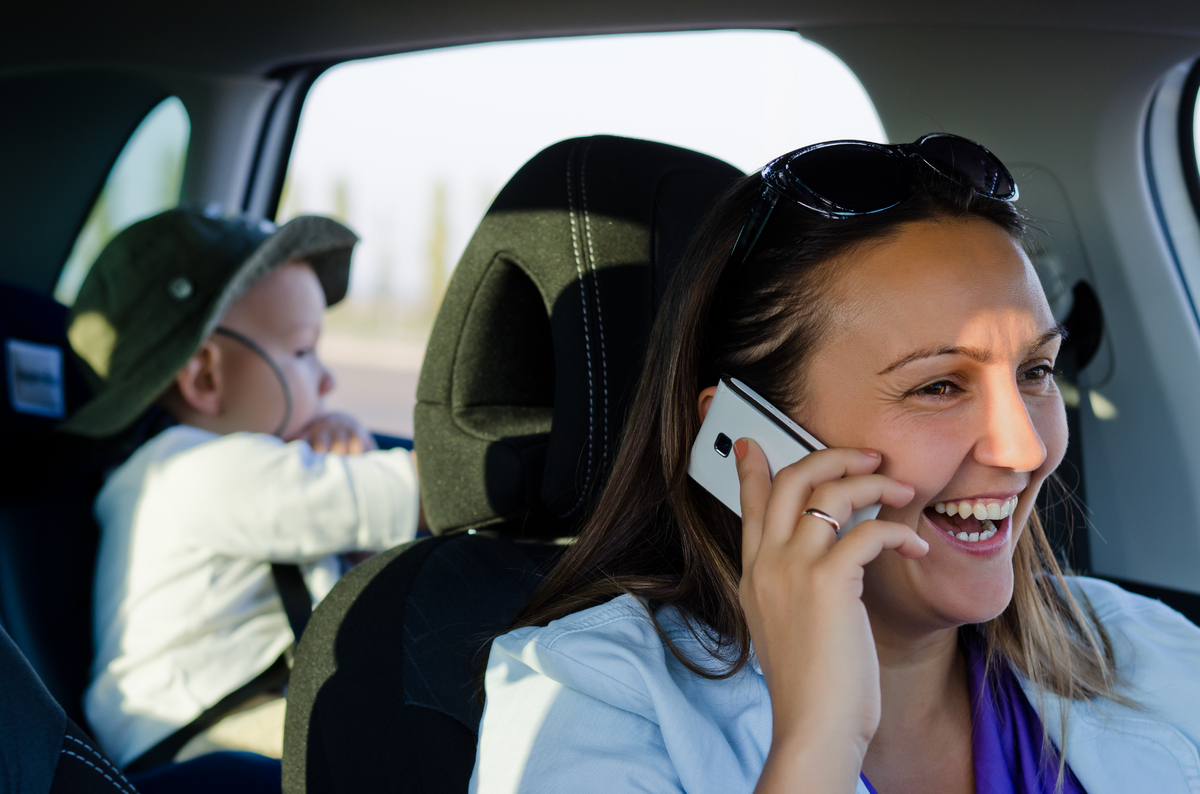 Of the 15,000 mothers polled, 67 percent reported that they have taken a call from their lover in front of their child.