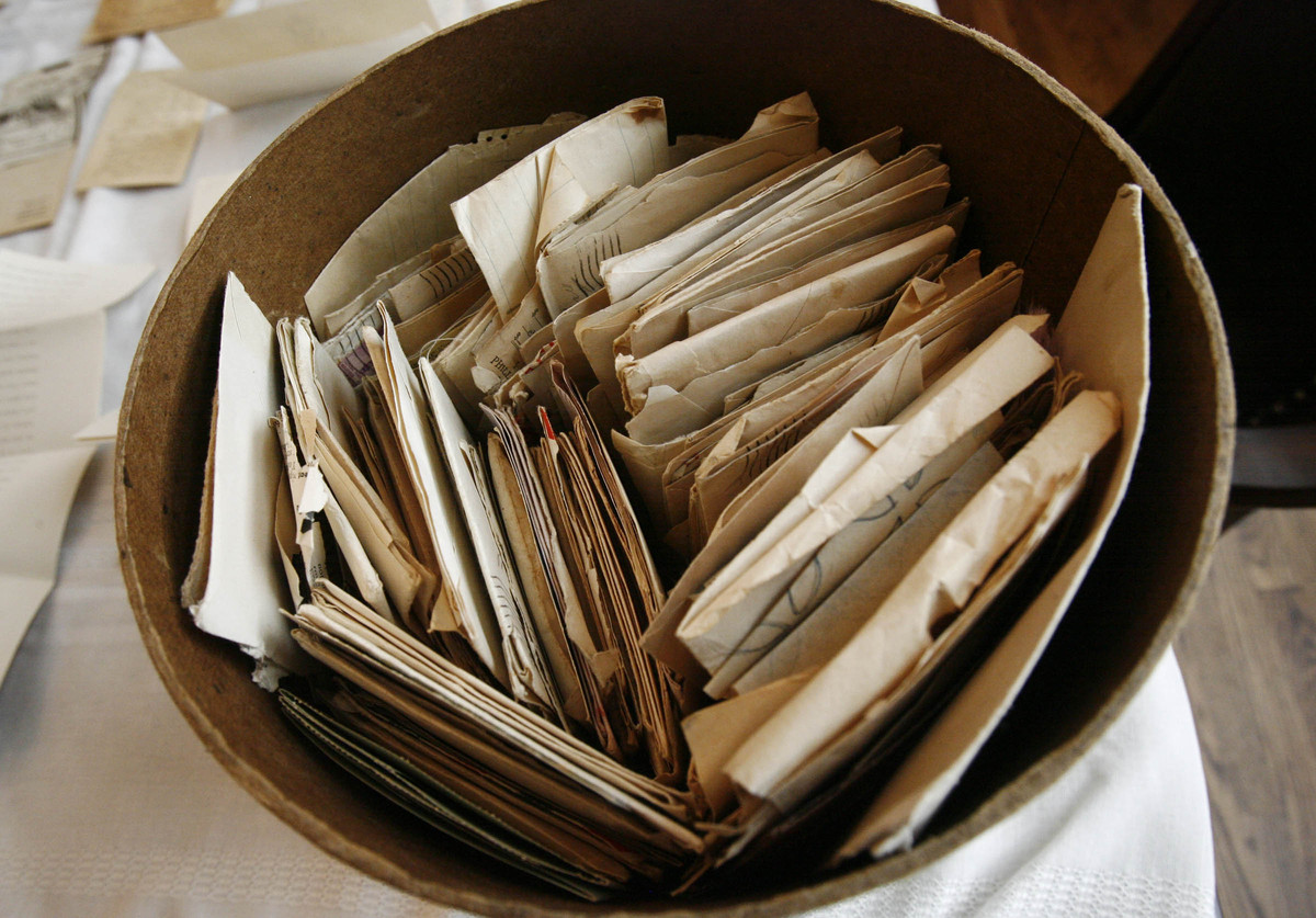 Part of a collection of more than 200 letters and documents written by two WWII soldiers, donated to amateur historian Doug E